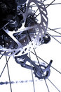 Bicycles Rear Brake Mechanism Royalty Free Stock Images