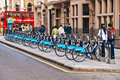 Bicycles for rent in London, UK Stock Photography