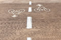 For bicycles road marking of the bicycle path tel aviv israel Stock Images