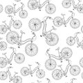 Bicycles seamless pattern vintage vector illustration eps Royalty Free Stock Image