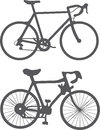 Bicycles silhouette vector Royalty Free Stock Photo