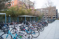 Bicycles university in beijing china the bicycle is the main means of transport students Stock Images