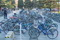 Bicycles university in beijing china the bicycle is the main means of transport students Stock Photo