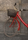 Bicyclette rouge Photos libres de droits