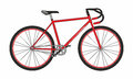 Bicyclette rouge de sport sur le fond blanc illustration de vecteur Photos libres de droits