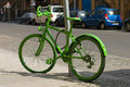 Bicyclette verte Images stock