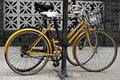 Bicyclettes de ville Photo stock