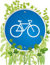 Bicyclist road sign Royalty Free Stock Image