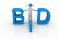Bid business concept on isolated background Stock Photography