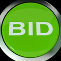 Bid button shows online auction or bidding showing Royalty Free Stock Images