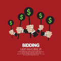 Bidding or auction concept vector illustration Royalty Free Stock Photography