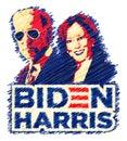 Biden Harris scribble Royalty Free Stock Photo
