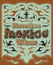 Bienvenidos a Mexico - Welcome to Mexico Spanish Royalty Free Stock Photos