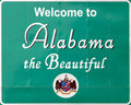 Bienvenue vers l'Alabama Photos stock