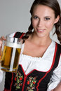 Bier-Frau Stockfotos
