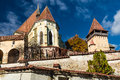 Biertan fortified church in transylvania romania is with three protecting walls one of most important saxon villagesin Royalty Free Stock Photos