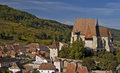 Biertan, village in Transylvania, Romania Royalty Free Stock Image
