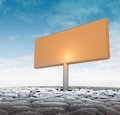 Big advertisement board in dry ground Royalty Free Stock Photo