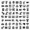 Big advertising icons set elegant marketing and advertisement Royalty Free Stock Images