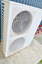 Big air conditioning system ac cooling outdoor units Stock Photo