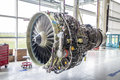 Big airplane engine during maintenance Royalty Free Stock Photo