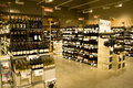 A big alcohol store with huge collection of alcohols wines brandy and other drinks Royalty Free Stock Photography