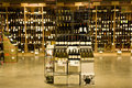 A big alcohol store with huge collection of alcohols wines brandy and other drinks Stock Photo