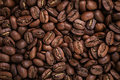 Big arabica coffee beans background directly from above for Stock Photo
