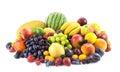 Big assortment of Fresh Organic Fruits isolated on white