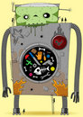 Big bad robot Royalty Free Stock Photo