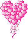 Big balloon heart Stock Photo