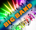 Big band means sound track and big band indicating ensemble Stock Photography