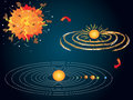 Big bang illustration of and the formation of the solar system Royalty Free Stock Photos