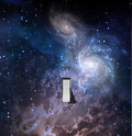 Big bang universe scene with galaxy and switch Royalty Free Stock Photography