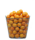 Big basket with oranges Royalty Free Stock Image