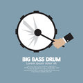 Big bass drum music instrument vector illustration Stock Images
