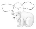 A big bear thinking illustration of on white background Stock Photos