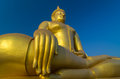 The Big beautiful Buddha at Wat Muang Temple Stock Photos