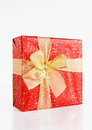 Big beautiful gift box light background Stock Images