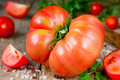 Big beef hybrid tomato Royalty Free Stock Photo