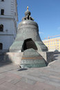 Big bell in moscow kremlin a landmark inside russia Royalty Free Stock Photography