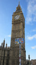 Big ben board visual pollution Stock Photo