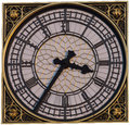 Big ben clock face Royalty Free Stock Images