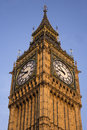 Big ben clock face a close to the top of Royalty Free Stock Image