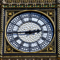 Big ben clock face detail in london the of on the elizabeth tower Royalty Free Stock Photo