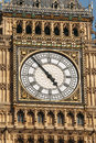 Big ben clock face extremelly detailed westminster london Stock Photo