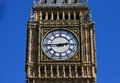 Big ben clock face in london the of on the elizabeth tower Stock Images