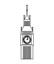 big ben clock isolated icon Royalty Free Stock Photo