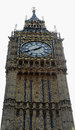 Big ben clock tower london of england isolated Stock Photography