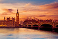 Big Ben Clock Tower London at Thames River Royalty Free Stock Photo